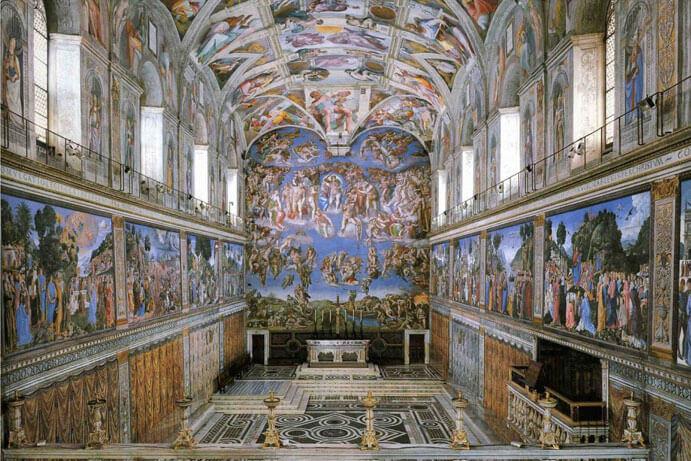 L invention de l art en europe 1 8 art - Plafond chapelle sixtine michel ange ...
